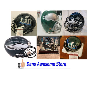 Philadelphia Eagles Autograph Helmet - Dans Awesome Store