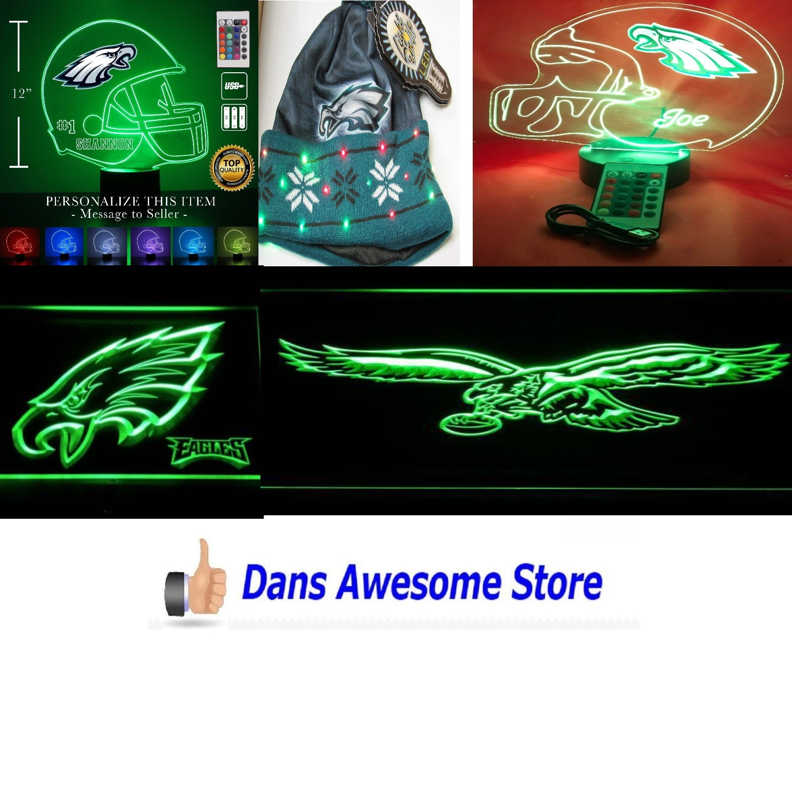 Philadelphia Eagles LED - Dans Awesome Store