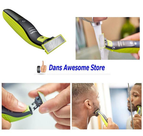 Philips Norelco OneBlade hybrid electric trimmer and shaver, QP2520/70 - Dans Awesome Store