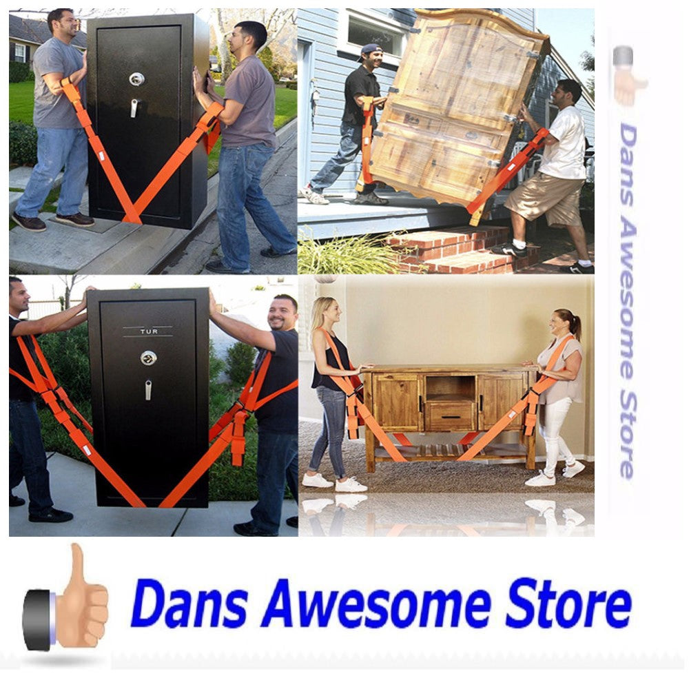 Forearm Forklift  Lifting and Moving Straps, to easily carry furniture, appliances, mattresses, or any heavy object. Rated for items up to 800 lbs. 2 person moving system that encourages proper lifting techniques - Dans Awesome Store