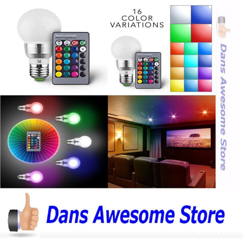 KOBRA Retro LED Color Changing Light Bulb with Remote Control- 16 Different Color Choices Smooth, Flash or Strobe Mode- Premium Quality & Energy Saving Lamps- Great For Decoration Parties & More - Dans Awesome Store
