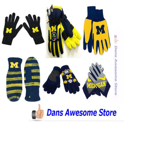 Michigan Wolverines Gloves - Dans Awesome Store