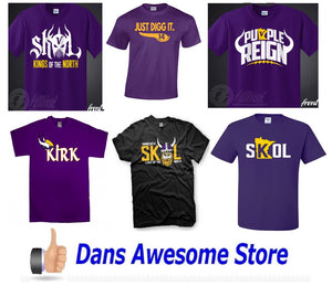 Minnesota Vikings Tee Shirt - Dans Awesome Store