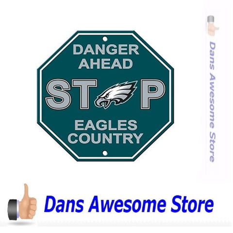 Philadelphia Eagles Stop Sign - Dans Awesome Store