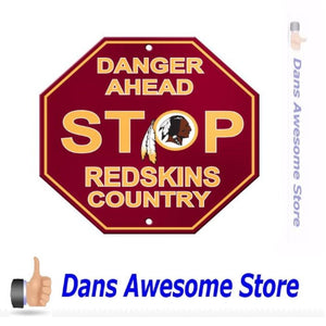 Washington Redskins Stop Sign