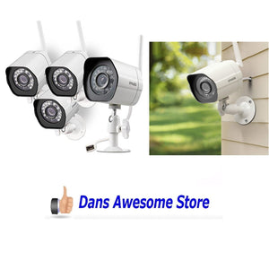 Zmodo Wireless Security Camera System (4 pack) Smart HD Outdoor WiFi IP Cameras with Night Vision - Dans Awesome Store