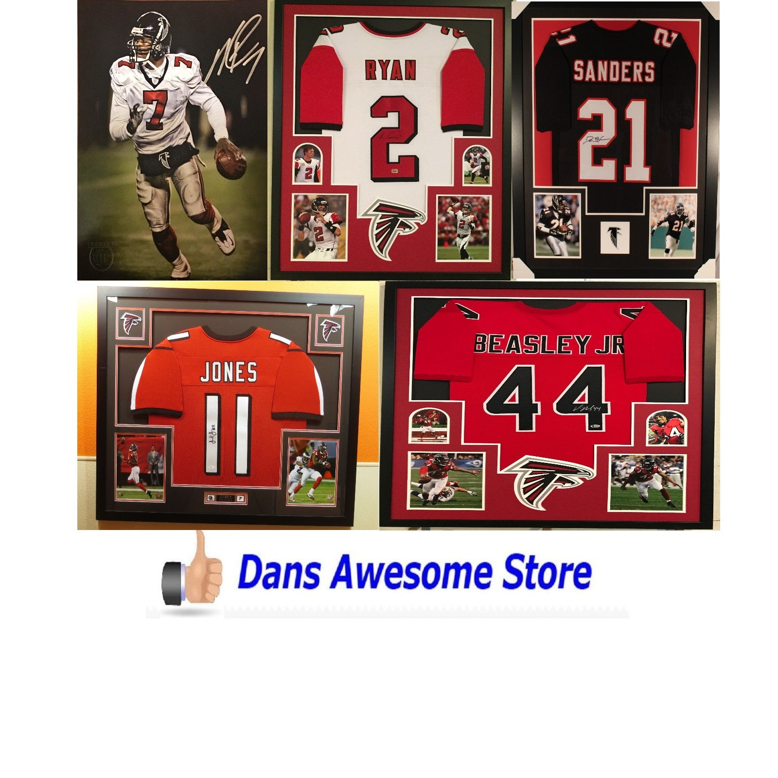 Atlanta Falcons Autograph - Dans Awesome Store
