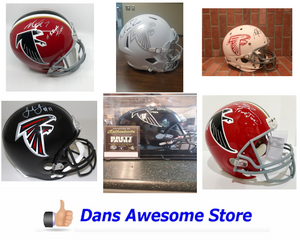 Atlanta Falcons Autograph Helmet - Dans Awesome Store