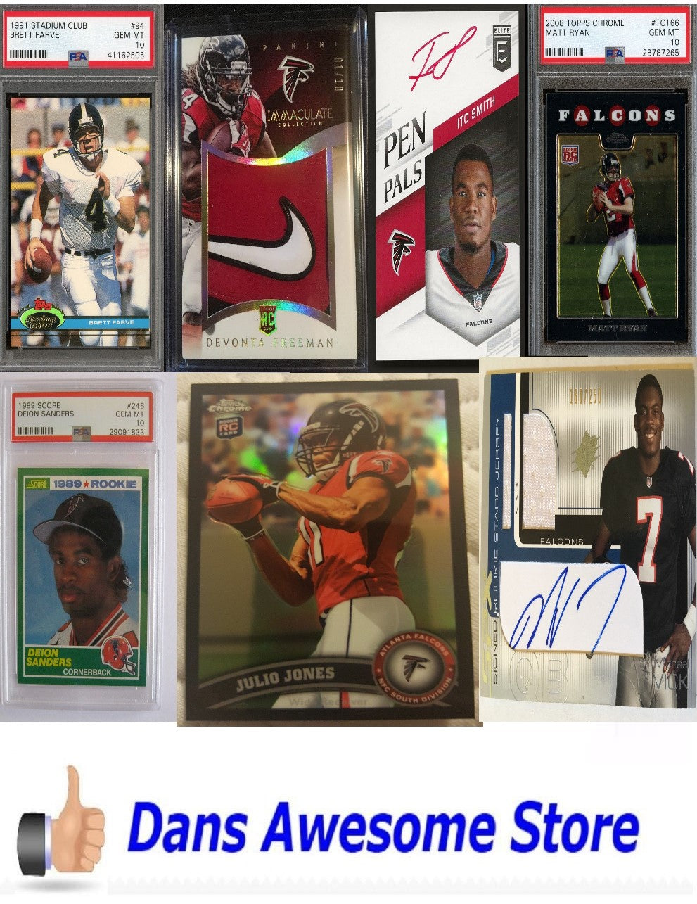 Atlanta Falcons Rookie Card - Dans Awesome Store