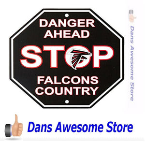 "Atlanta Falcons Stop Sign, 12"" x 12"" - Dans Awesome Store"