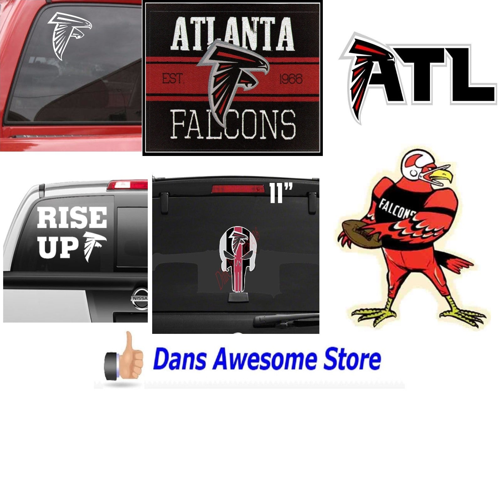 Atlanta Falcons Sticker - Dans Awesome Store