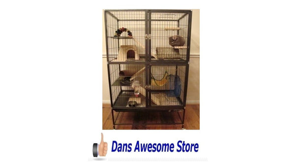 Large Ferret Cage Small Pet Chinchilla Rabbit Hamster Guinea Pig Rat Iguana Sugar Glider House - Dans Awesome Store