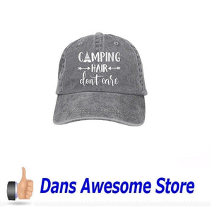Unisex Camping Hair Don t Care-1 Vintage Jeans Baseball Cap Classic Cotton  Dad d8eb8f25f07