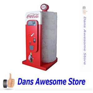 Coca-Cola Vending Machine: Kitchen Collectible Paper Towel Holder - Dans Awesome Store