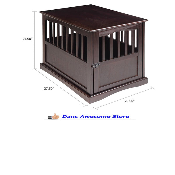 Newport Pet Crate End Table Dog Cat Kennel House Cage Indoor Family Room Sale - Dans Awesome Store