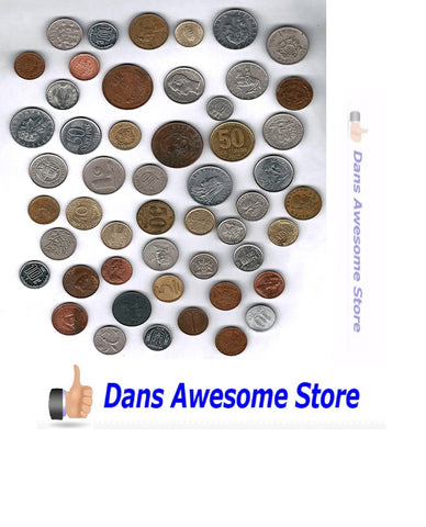 Moenich World Coin Grab Bag - 50 Coin Assortment - Dans Awesome Store