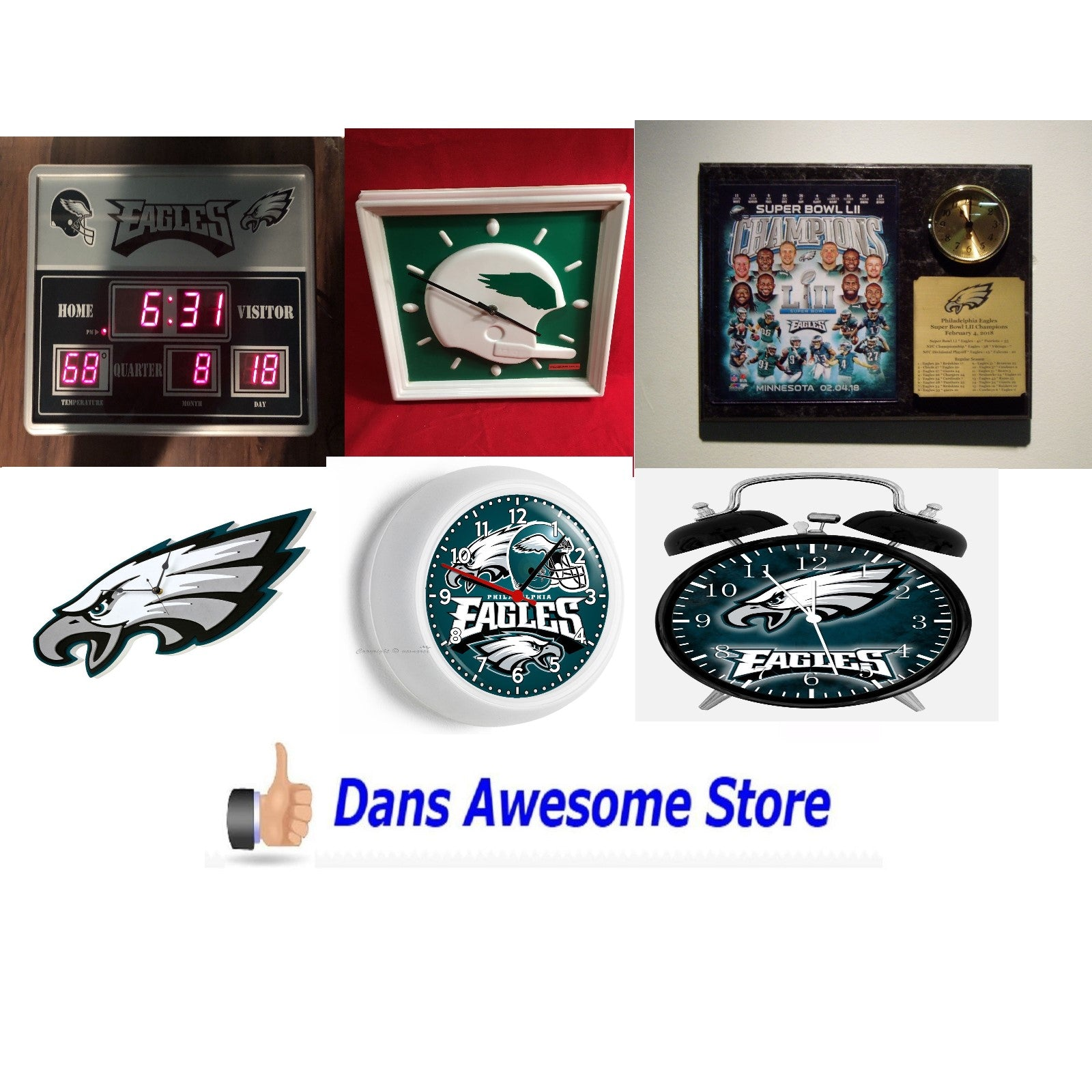 Philadelphia Eagles Clock - Dans Awesome Store
