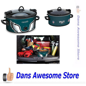 Crock-Pot Philadelphia Eagles NFL 6-Quart Cook & Carry Slow Cooker - Dans Awesome Store