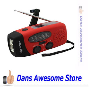 Emergency Solar Hand Crank Self Powered AM/FM NOAA Weather Radio & Phone Charger - Dans Awesome Store
