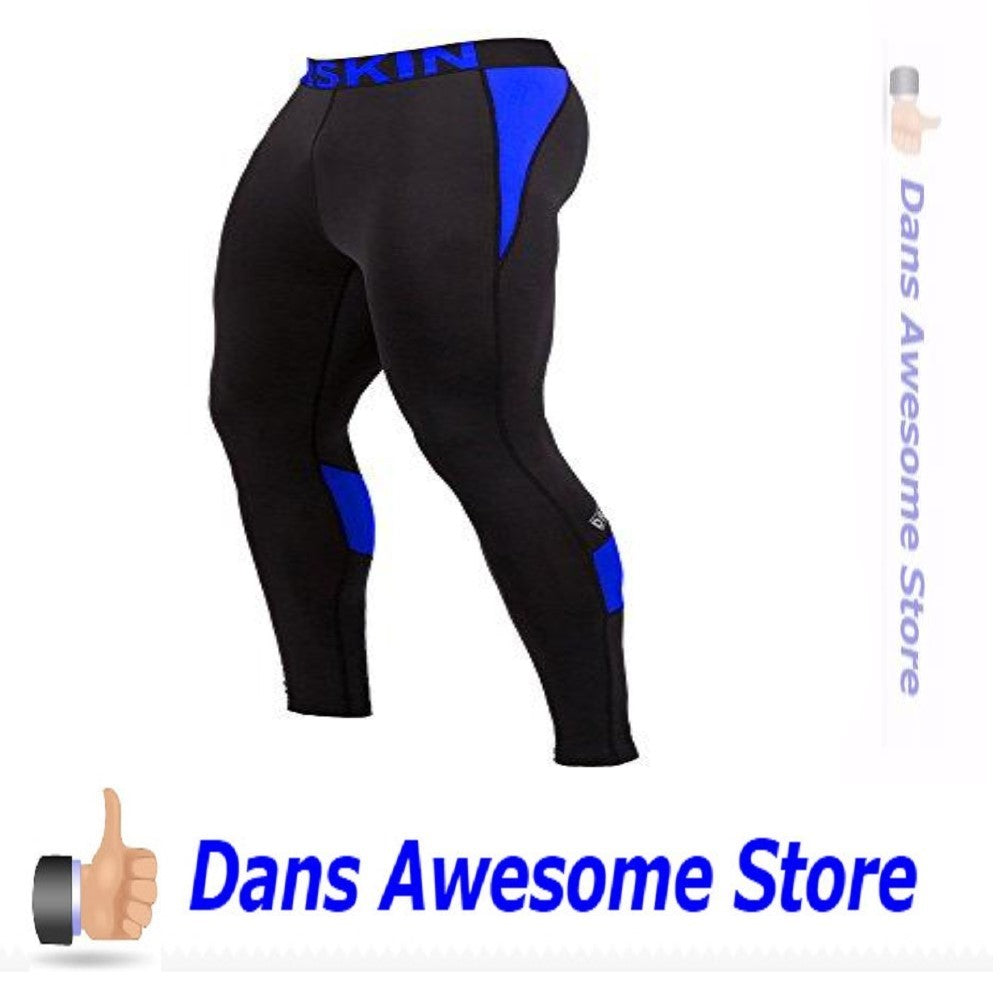 DRSKIN Men's Compression Dry Cool Sports Tights Pants Baselayer Running Leggings Yoga (Came B-BU03, 2XL) - Dans Awesome Store