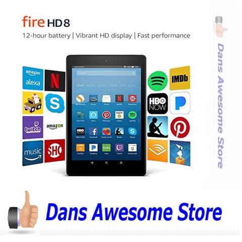 Amazon Kindle Fire HD 8 Tablet 16 GB 7th Generation 2017 LATEST Model Free Ship - Dans Awesome Store