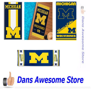 Michigan Wolverines Beach Towel - Dans Awesome Store