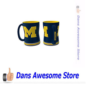Michigan Wolverines Sculpted Coffee Mug - Dans Awesome Store