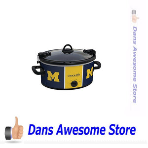 Crock-Pot Michigan Wolverines Collegiate 6-Quart Cook & Carry Slow Cooker - Dans Awesome Store