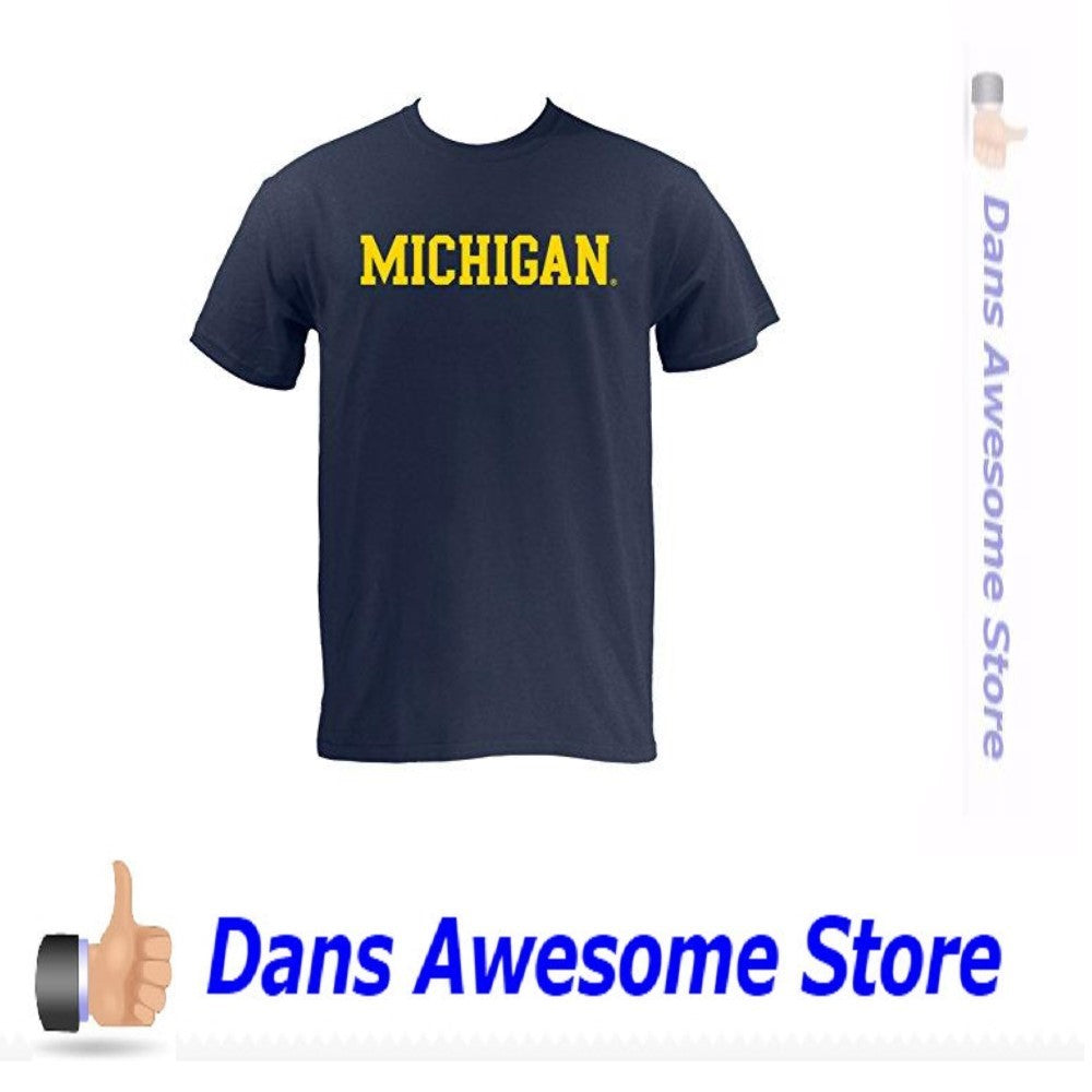Michigan Wolverines T-Shirt Navy - Dans Awesome Store