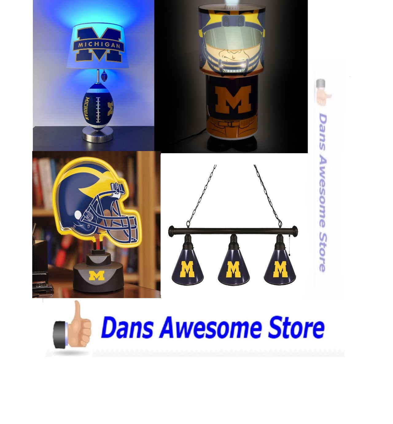Michigan Wolverines Lamps - Dans Awesome Store