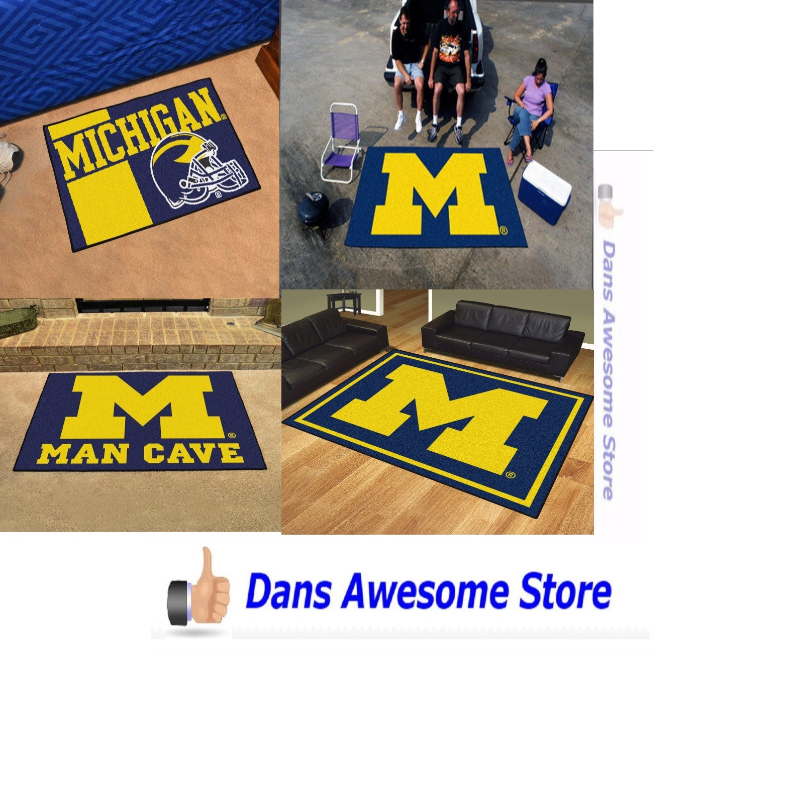 Michigan Wolverines Rug - Dans Awesome Store