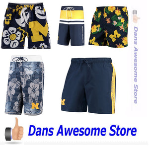 Michigan Wolverines Swim Trunks - Dans Awesome Store