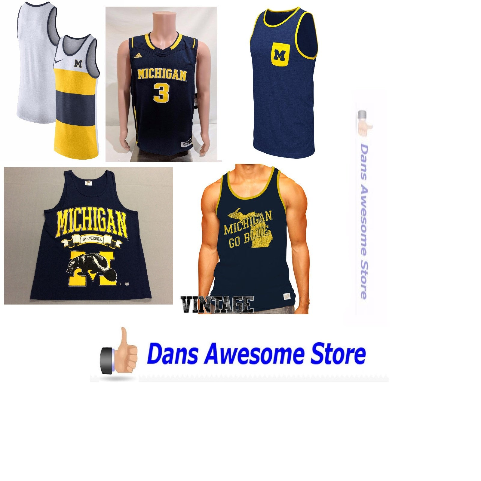 Michigan Wolverines Tank Tops - Dans Awesome Store