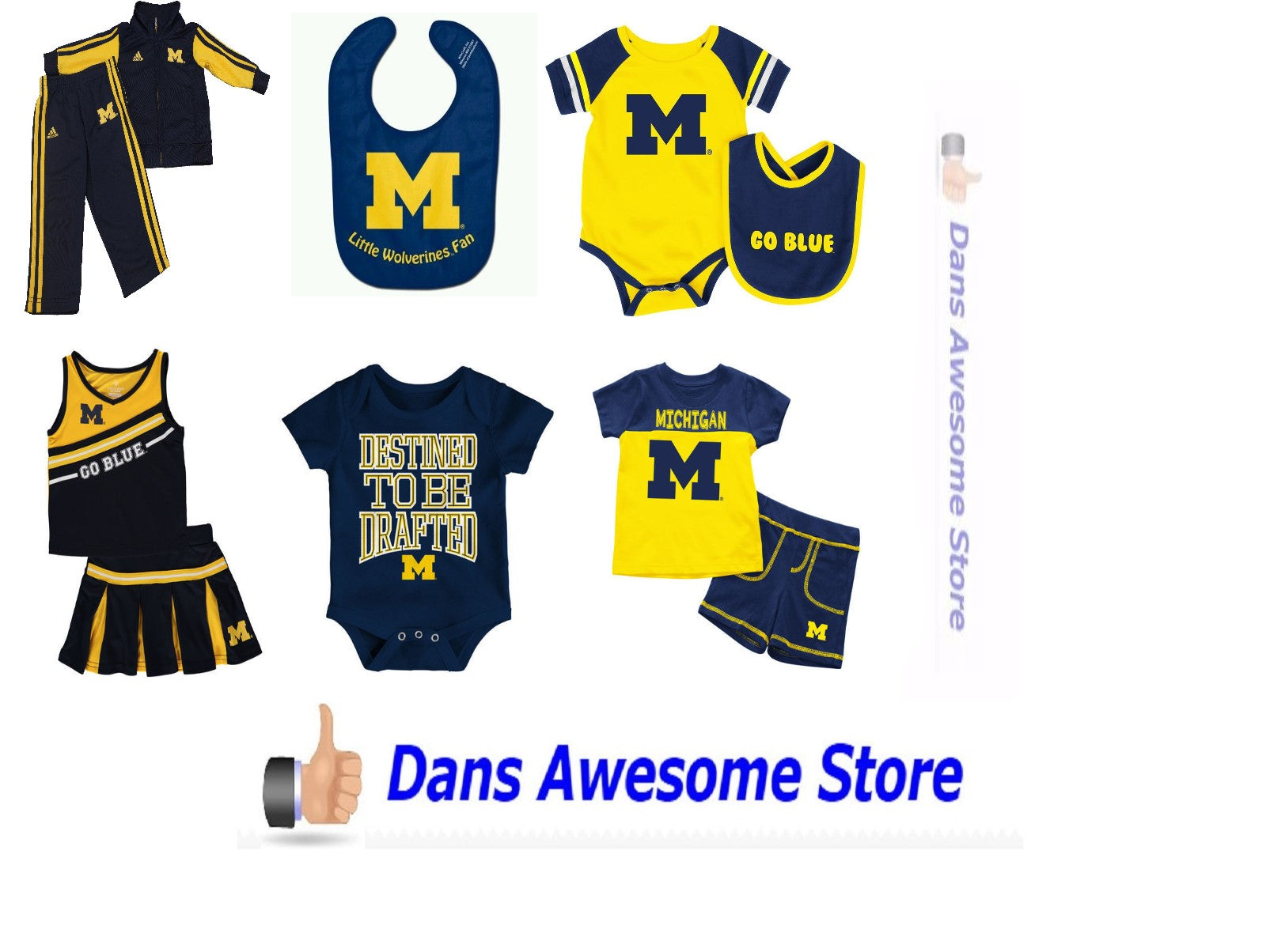 Michigan Wolverines All Babies - Dans Awesome Store