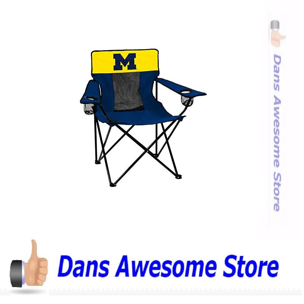 Collegiate  Michigan Wolverines Elite Chair - Dans Awesome Store