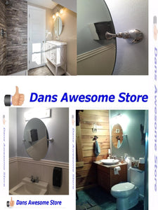 Oval Mirror Wall Mounted Tilting Mirrors Decor Sink Bathroom Bedroom Vanity Spa - Dans Awesome Store