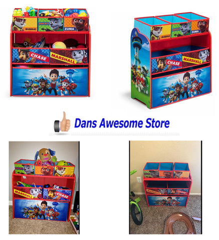 PAW Patrol Kids Toy Organizer Bin Children's Storage Box Bedroom Play Gift Puppy - Dans Awesome Store