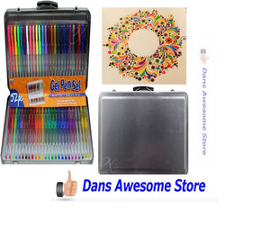 52 Multi Color Gel Pens Glitter Neon Metallic Art Craft Scrapbook Draw Colour - Dans Awesome Store