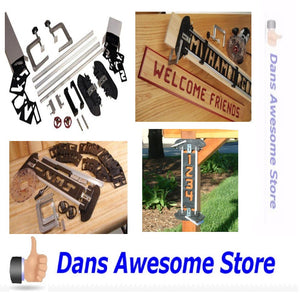 Sign Making Jig Set Routers Bits Letters Numbers Templates Engraver Hobby Wood - Dans Awesome Store