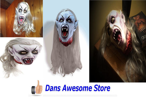 Gothic Vampire Head Prop Halloween - Dans Awesome Store