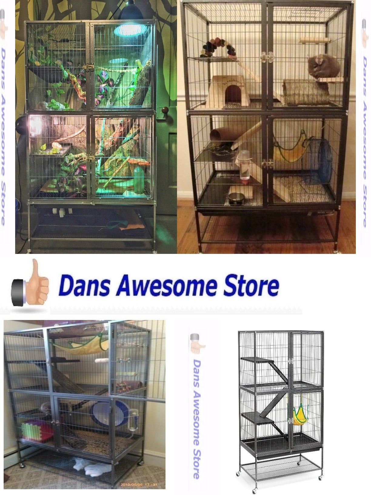 Large Ferret Cage Small Pet Chinchilla Rabbit Hamster Guinea Pig Rat Iguana Sugar Glider House