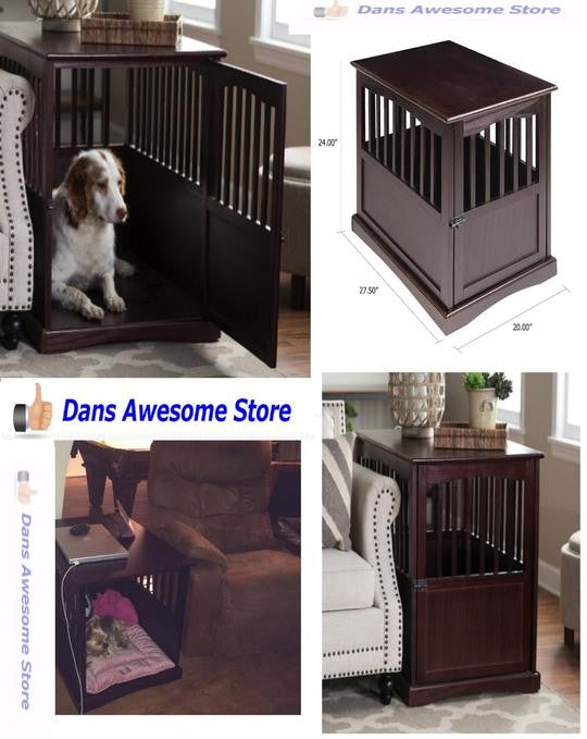 Newport Pet Crate End Table Dog Cat Kennel House Cage Indoor Family Room Sale