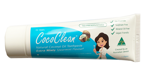Cococlean Toothpaste, Extra minty, Preservative free