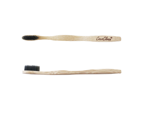 Cococlean Eco-friendly Charcoal Toothbrush, fully biodegradable - soft bristles