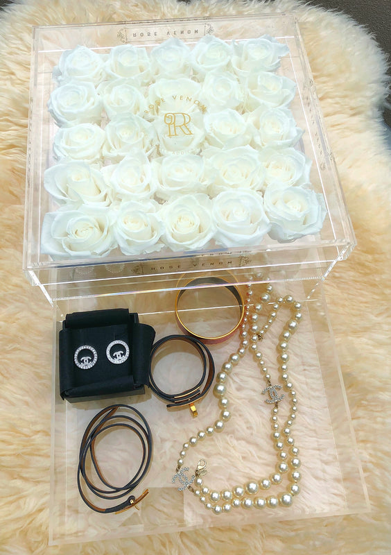R.V LIMITED EDITION - Acrylic Jewellery Box - Moonlight/Gold/Customised
