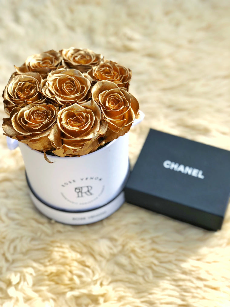 Gold, Silver & Midnight Black Rose Box