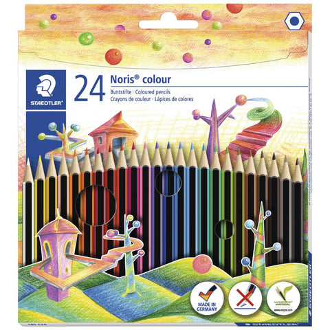 STAEDTLER 24 NORIS COLOURED PENCILS