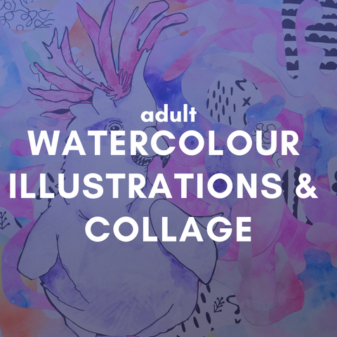 WATERCOLOUR ILLUSTRATION & COLLAGE Friday 7 August 6-9pm
