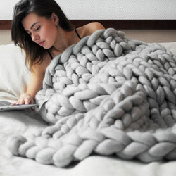Handmade Wool Knitted Blanket