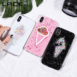 3D Dynamic Ice Cream Phone Case For iphone X